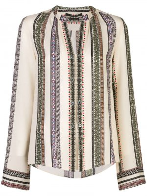 Блузка Kara в полоску Derek Lam. Цвет: белый
