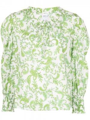 Блузка Siena с принтом пейсли Misa Los Angeles. Цвет: зеленый