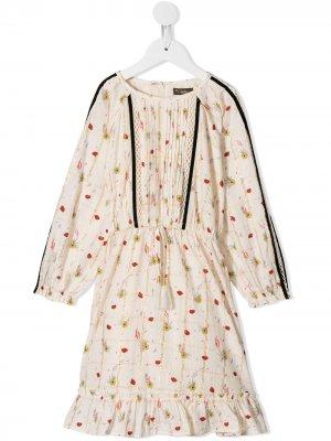 Платье Immi Poppies с принтом Velveteen. Цвет: белый