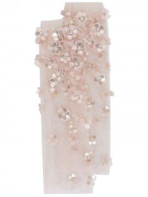 Носки с цветочной аппликацией Tutu Du Monde. Цвет: розовый