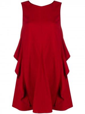 Коктейльное платье с бантом RED Valentino. Цвет: красный