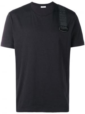 Logo stripe T-shirt Dirk Bikkembergs. Цвет: черный
