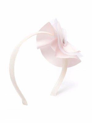 Ободок с цветочной аппликацией La Stupenderia. Цвет: нейтральные цвета