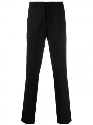 Прямые брюки с завышенной талией Ann Demeulemeester Grise. Цвет: черный
