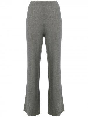 Укороченные расклешенные брюки Giorgio Armani Pre-Owned. Цвет: серый
