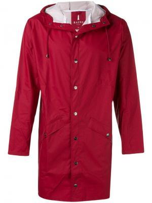Water-resistant hooded coat Rains. Цвет: красный