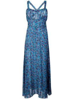 Платье с цветочным рисунком Incense and Joy Anna Sui. Цвет: синий