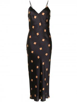 Ночная сорочка Marnie с принтом Gilda & Pearl. Цвет: черный