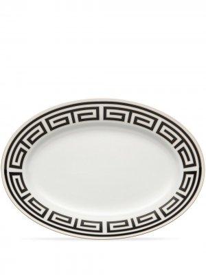 Сервировочное блюдо Labirinto (40 см) GINORI 1735. Цвет: черный