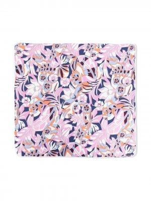 Конверт с цветочным принтом Emilio Pucci Junior. Цвет: фиолетовый
