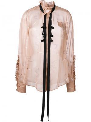 Блузка с оборками Nº21. Цвет: розовый и фиолетовый