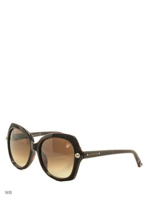 Солнцезащитные очки SK 9062 56F Swarovski. Цвет: коричневый