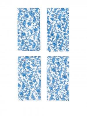 Набор салфеток Brocade Preen By Thornton Bregazzi. Цвет: синий