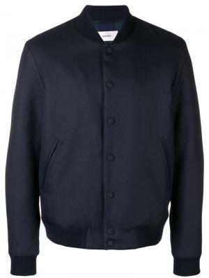 Press stud bomber jacket Mauro Grifoni. Цвет: синий