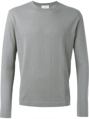 Пуловер с круглым вырезом Ballantyne. Цвет: серый