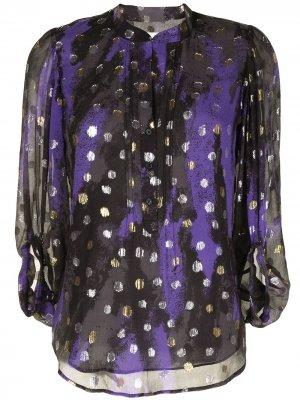 Блузка Ariel из джерси DVF Diane von Furstenberg. Цвет: разноцветный