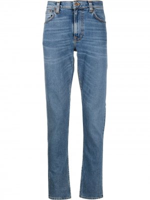 Джинсы прямого кроя Nudie Jeans. Цвет: синий
