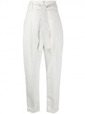 Зауженные брюки с присборенной талией Philosophy Di Lorenzo Serafini. Цвет: белый