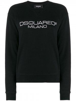 Толстовка с логотипом Dsquared2. Цвет: черный