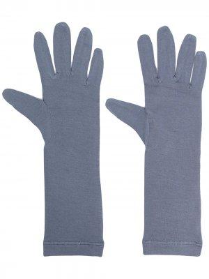 Перчатки длины миди Styland. Цвет: синий