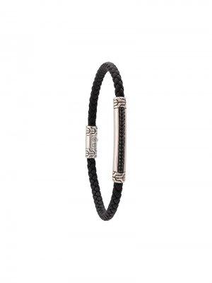 Плетеный браслет John Hardy. Цвет: черный