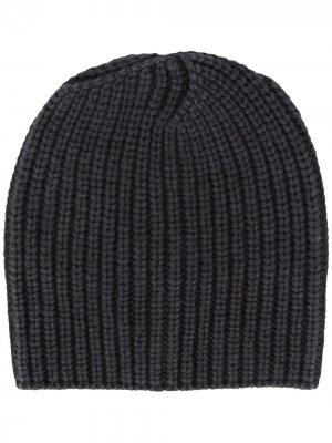 Фактурная шапка бини Iris Von Arnim. Цвет: черный