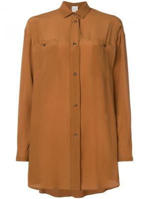 Long line shirt Alysi. Цвет: коричневый