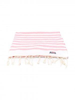 Пляжное полотенце в полоску с логотипом Mc2 Saint Barth Kids. Цвет: розовый