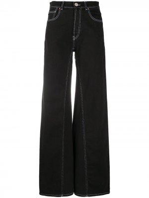 Расклешенные джинсы с завышенной талией Erika Cavallini. Цвет: черный