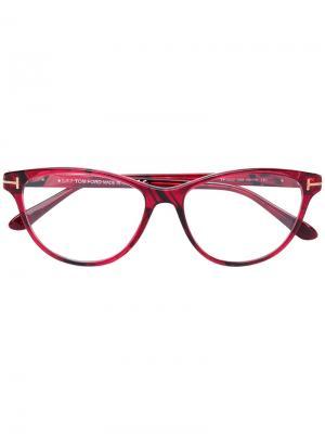 Очки в оправе кошачий глаз Tom Ford Eyewear. Цвет: красный