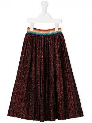Glittered long skirt Sonia Rykiel. Цвет: красный