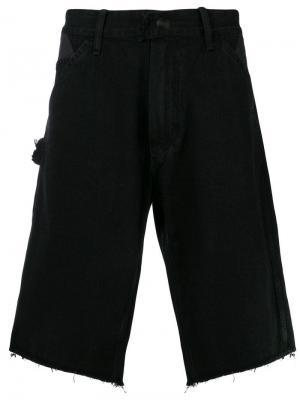 Джинсовые шорты с необработанным низом U.P.W.W.. Цвет: черный