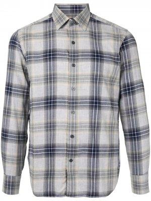 Durban клетчатая рубашка с длинными рукавами D'urban. Цвет: серый