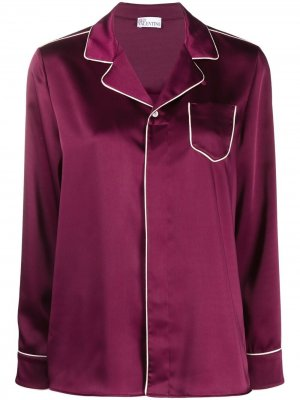 Пижамная рубашка RED Valentino. Цвет: фиолетовый