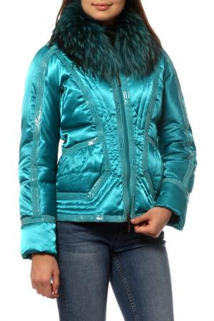 Куртка Roccobarocco. Цвет: бирюзовый