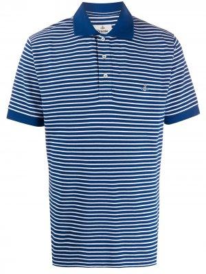 Рубашка-поло с вышитым логотипом Orb Vivienne Westwood. Цвет: синий