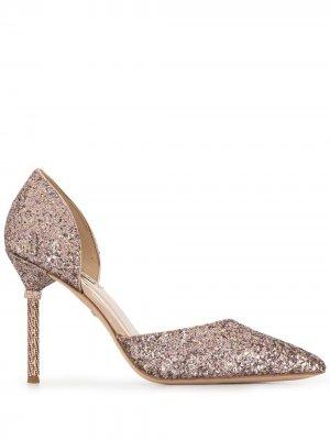 Туфли-лодочки Ozara с блестками Badgley Mischka. Цвет: розовый