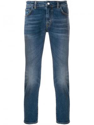 Зауженные к низу джинсы Entre Amis. Цвет: синий