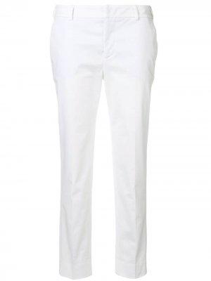 Укороченные зауженные брюки Pt01. Цвет: белый
