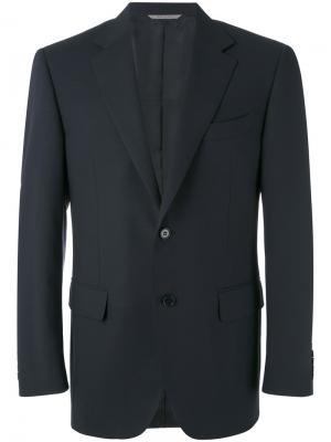 Классический пиджак Canali. Цвет: синий