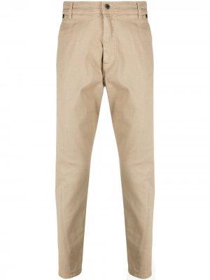 Прямые джинсы с нашивкой-логотипом Neil Barrett. Цвет: нейтральные цвета