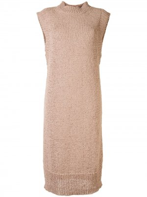 Платье миди Chaima без рукавов с высоким воротником Rodebjer. Цвет: коричневый
