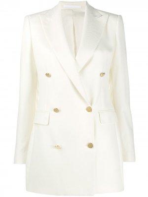 Двубортный пиджак с длинными рукавами Tagliatore. Цвет: нейтральные цвета