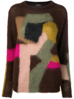 Трикотажный свитер Roberto Collina. Цвет: коричневый