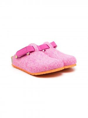 Фетровые клоги на липучках Birkenstock Kids. Цвет: розовый