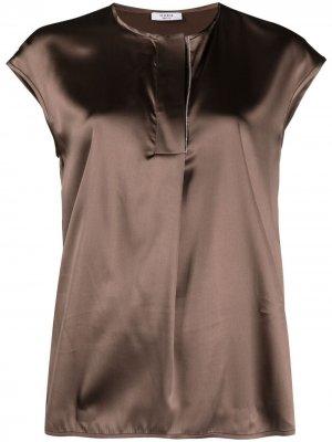 Блузка с короткими рукавами Peserico. Цвет: коричневый