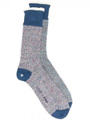 Носки из коллаборации с Corgie YMC. Цвет: синий