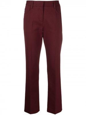 Прямые брюки средней посадки See by Chloé. Цвет: красный