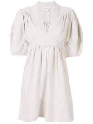 Платье ia Karen Walker. Цвет: белый