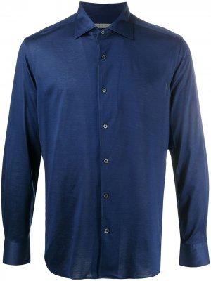 Рубашка на пуговицах Corneliani. Цвет: синий